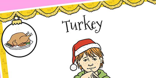 A4 British Sign Language Sign for Turkey - sign language, turkey