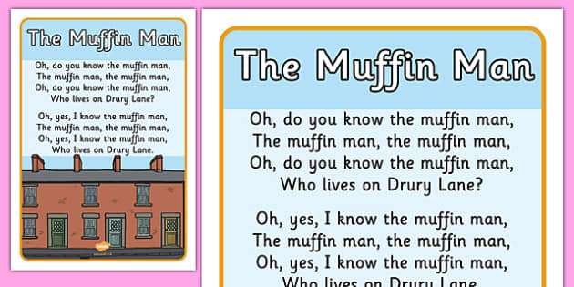 The Muffin Man Rhyme Display Poster - the muffin man, rhyme, display poster, display, poster, nursery rhyme