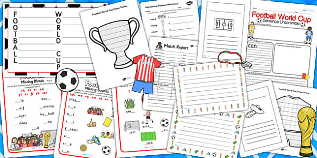 Football World Cup Themed Writing Activity Pack - sports, write