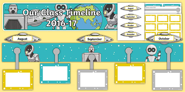 2016 to 17 Class Timeline Display Pack-Scottish