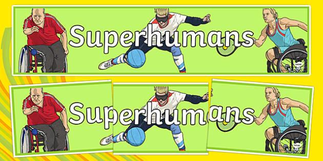 Superhumans Display Banner