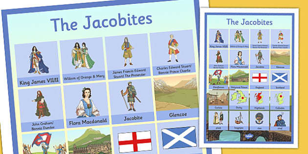 The Jacobites Vocabulary Mat - jacobites, vocabulary mat, vocabulary