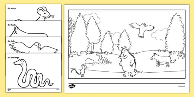 The Gruffalo Colouring Pages