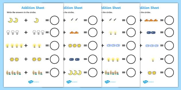Light and Dark Addition Sheet - addition worksheet, light and dark, addition, worksheet, light, dark, light and dark addition, light and dark worksheet