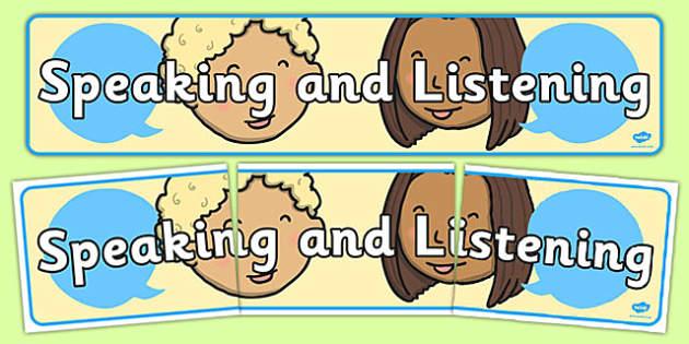 Speaking And Listening Display Banner - banners, displays, speak