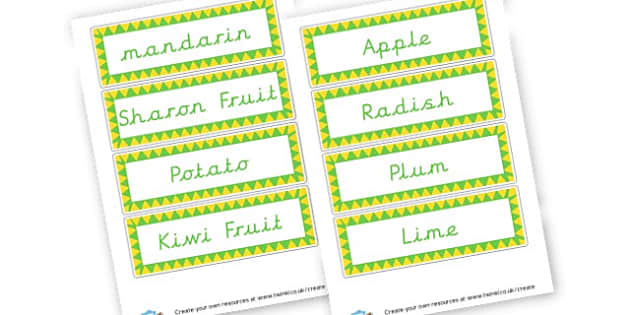 Fruit and Veg Cards - Fruit and Vegetables Primary Resources, fruits, healthy eating