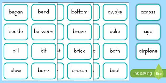 Dolch Words Fourth Grade Flashcards