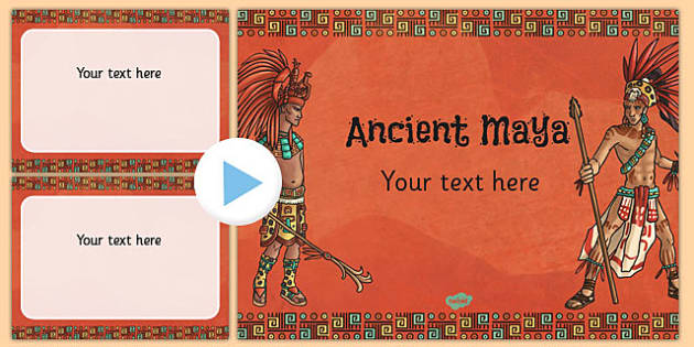 Mayan Civilisation Themed PowerPoint Template - mayan, template