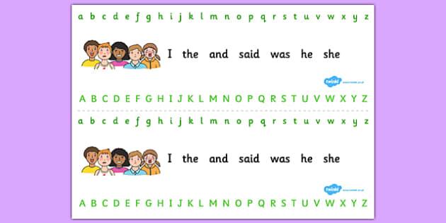 Ourselves Alphabet Strips - ourselves, alphabet strips, strips, alphabet