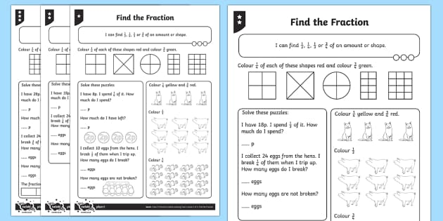 PlanIt Y2 Fractions Home Learning Tasks