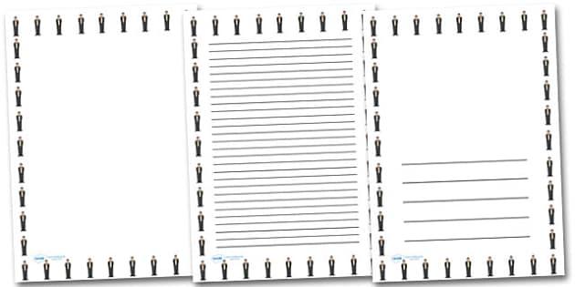 Neville Chamberlain Portrait Page Borders- Portrait Page Borders - Page border, border, writing template, writing aid, writing frame, a4 border, template, templates, landscape