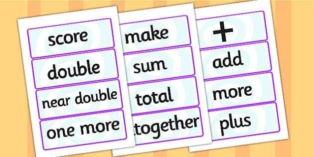 Maths Calculations Word Cards - maths calculations, word cards, maths calculations word cards, maths word cards, word cards, maths