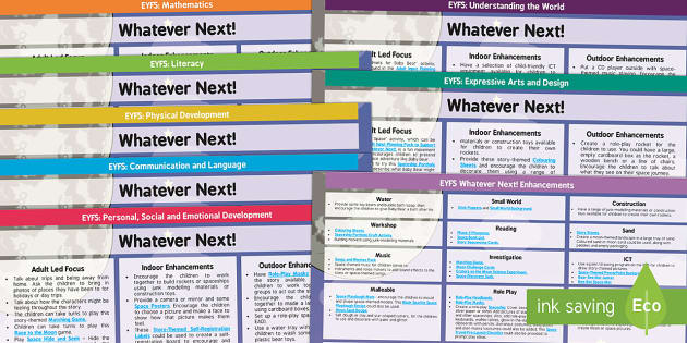 Lesson Plan and Enhancement Ideas EYFS to Support Teaching on Whatever Next! - lesson plan, EYFS, ideas