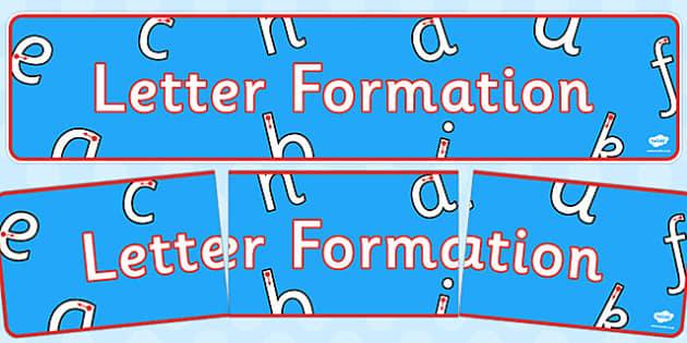 Letter Formation Display Banner - letter formation, display banner, display