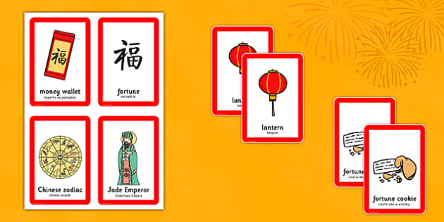 Chinese New Year Pairs Matching Game Polish Translation - polish, chinese new year, pairs, matching, game, activity