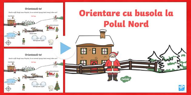 Orientare la Polul Nord - PowerPoint - Craciun, orientare, puncte cardinale, geografie, directie, oferire de directionare, indicatii, expri