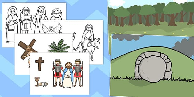 Easter Story Cut Outs - australia, easter, story, cut outs, cut