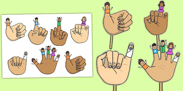 Tommy Thumb Stick Puppets - tommy thumb, stick puppets, puppets