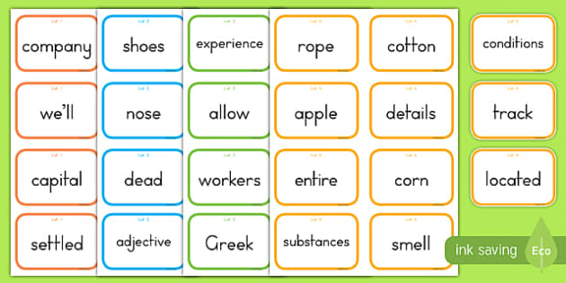 Fry Words The Tenth Hundred Flashcards