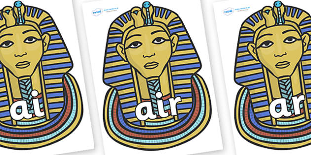 Phase 3 Phonemes on Tutankhamun - Phonemes, phoneme, Phase 3, Phase three, Foundation, Literacy, Letters and Sounds, DfES, display