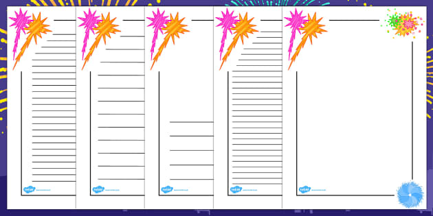 Happy New Year Page Borders Portrait - australia, page borders