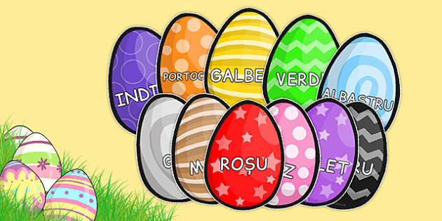 Culorile pe Oua de Paste - culori, oua