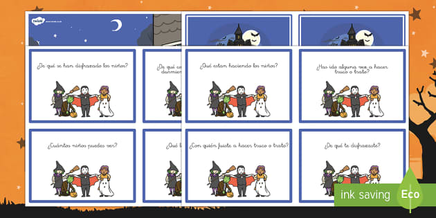 Halloween Tarjetas de preguntas