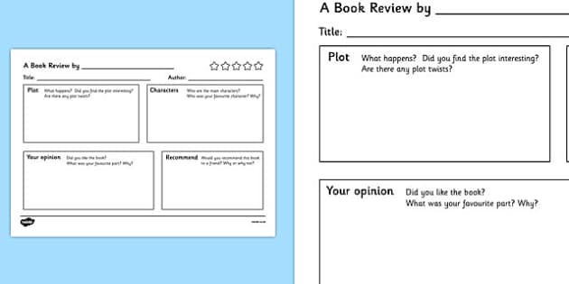 Book Review Writing Template book review writing template – Book Review Template