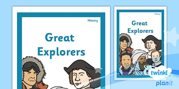 PlanIt - History KS1 - Great Explorers Unit Book Cover - planit, book cover, unit, history, ks1, great explorers