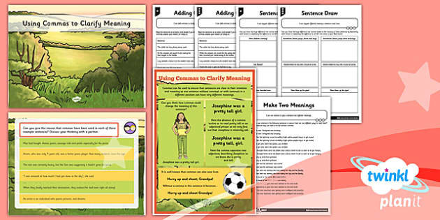 PlanIt Y5 SPaG Lesson Pack: Using Commas to Clarify Meaning - GPS, commas, clarify, ambiguity, change meaning, ks2, key stage 2, year 5, spag, grammar, punctuation
