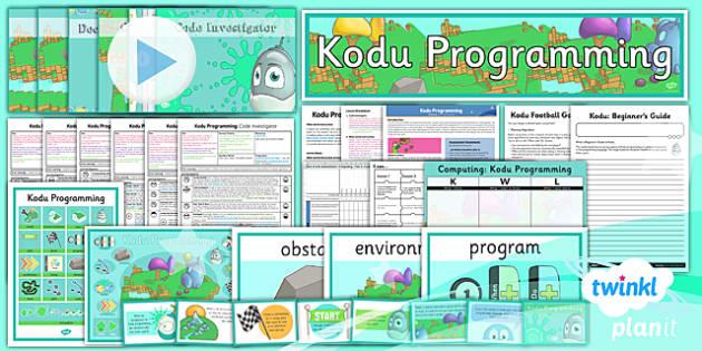 PlanIt - Computing Year 6 - Kodu Programming Unit Pack - computing, kodo, programming, planit, coding, 2014, ict, ks2