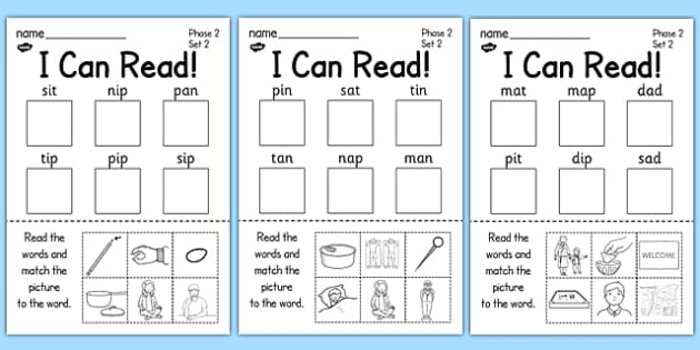 I Can Read Phase 2 Set 2 Words Activity Sheet - activity, sheet, worksheet