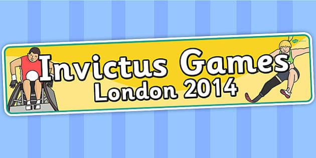 Invictus Games London 2014 Display Banner - header, sports