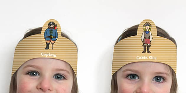 Pirate Role Play Headbands - pirates role play, roleplay, props