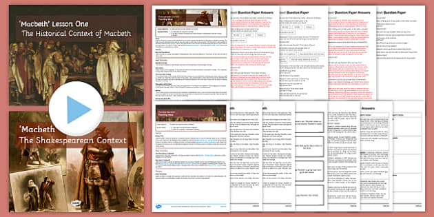 Macbeth Context Resource Pack