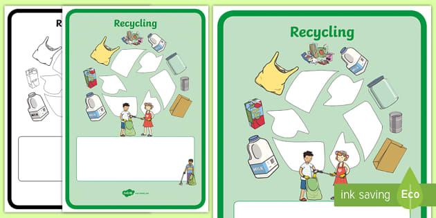 Eco and Recycling Editable Book Covers  - Eco and Recycling, eco, recycling, editable, book, cover, books, reading, book cover, environment, friendly