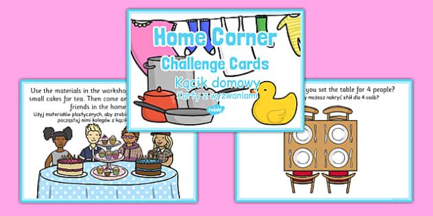 Challenge Cards Home Corner Polish Translation - polish, challenge cards, home corner, home, corner