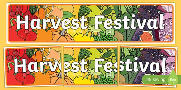 Harvest Festival Display Banner
