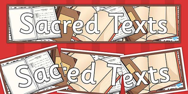 Sacred Texts Display Banner - sacred, texts, display, banner