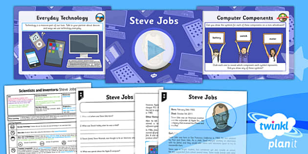 PlanIt - Science Year 6 - Scientists and Inventors Lesson 6: Steve Jobs Lesson Pack - Steve Jobs, computer, component