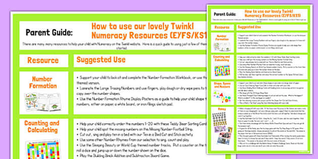 Numeracy Resources Guide for Parents - australia, numeracy, resources, guide, parents