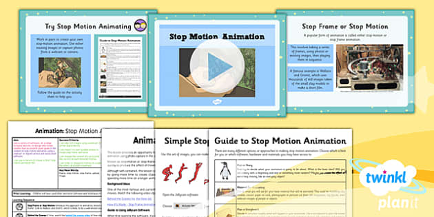 PlanIt - Computing Year 4 - Animation Lesson 5: Stop Motion Animation Lesson Pack - planit, computing, unit