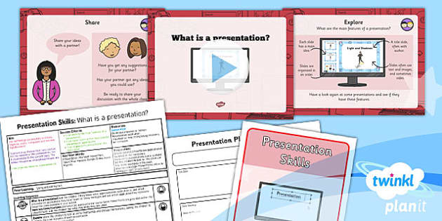 PowerPoint Presentation Skills: What is a Presentation - Year 2 Computing Lesson Pack