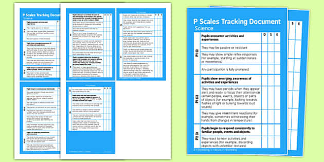 P Scales Tracking Science  Pocket Book