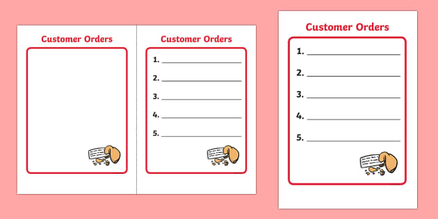 Chinese Takeaway Role Play Order Form - chinese takeaway, role play, chinese takeaway order form, chinese takeaway role play