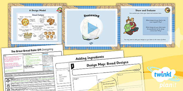 PlanIt - D&T LKS2 - The Great Bread Bake Off Lesson 4: Designing Lesson Pack
