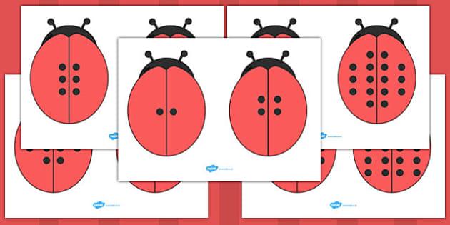 Double the Ladybug Spots Visual Aids - ladybug, spots, visual