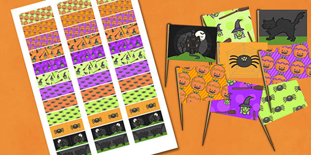 Halloween Party Toothpick Flags - halloween, party, toothpick