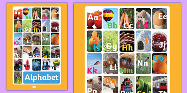 Alphabet Display Poster Photos - alphabet, display, poster, photo