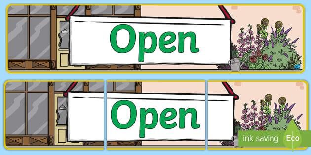 Open Sign Display Banner - open sign, display banner, display, banner, open, sign, display sign, enter